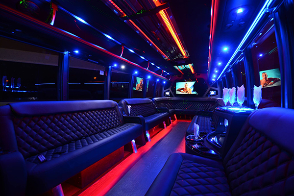 40 passenger party bus rental Stockton